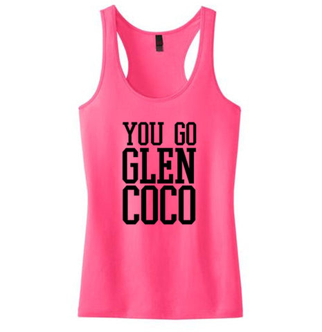 You Go Glen Coco Juniors 60/40 Racerback Tank - SenseOfCustom - 1