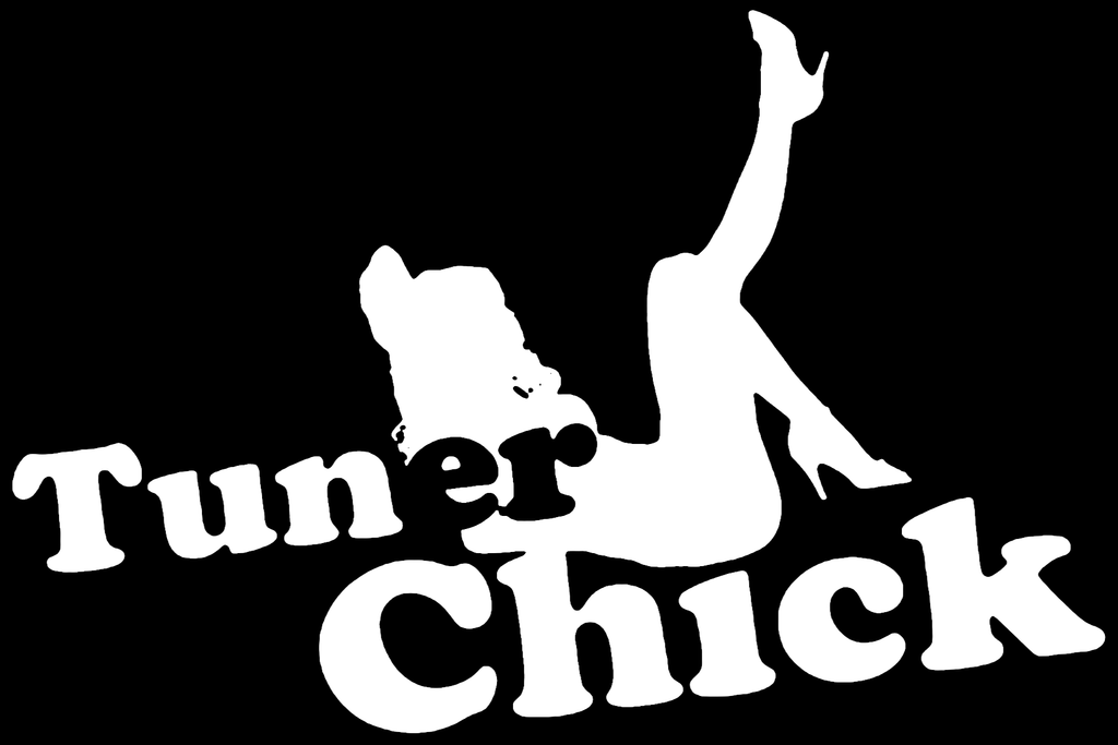Tuner Chick Vinyl Decal Window Sticker - SenseOfCustom