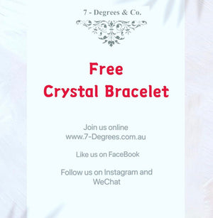 Free Crystal Bracelet When you sign in and follow us on social media💕
