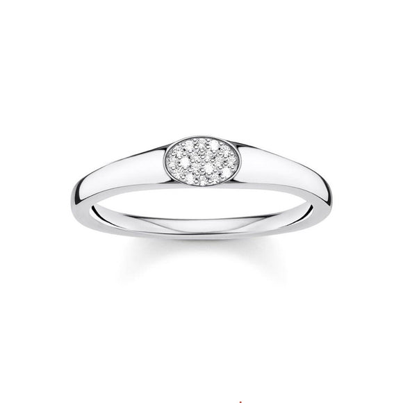 Thomas Sabo Charming Ring White Stones Silver TR2315