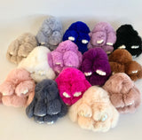 7-Degrees Accessories Bunny Bag Charms Super Soft Cute Rabbit Keyrings