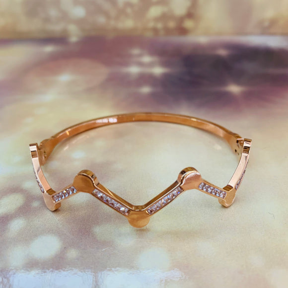 "7-Degrees Exclusives Stainless Steel Bangle ""Ziczac"""
