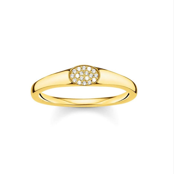 Thomas Sabo Charming Ring White Stones Gold TR2315Y