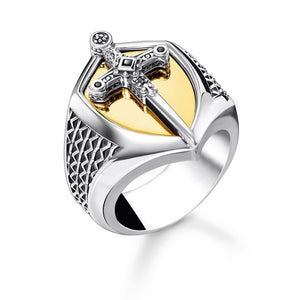 Thomas Sabo Jewellery Ring Sword Gold (50-58) TR2309