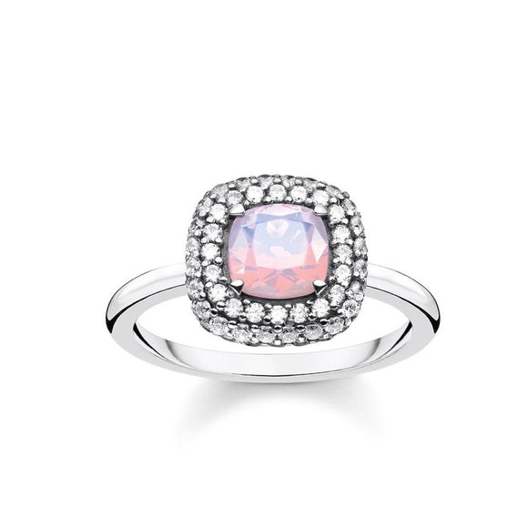 Thomas Sabo Jewellery Ring Shimmering Pink Opal Colour Effect TR2287