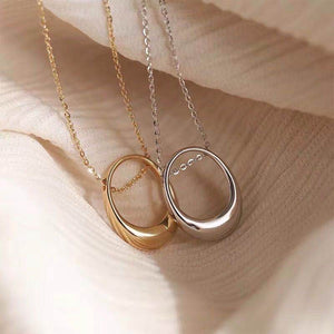 "7-Degrees Exclusive Design Sterling Silver Necklace ""Oval"""