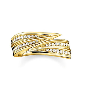 Thomas Sabo Jewellery Ring Leaves Gold TR2283Y