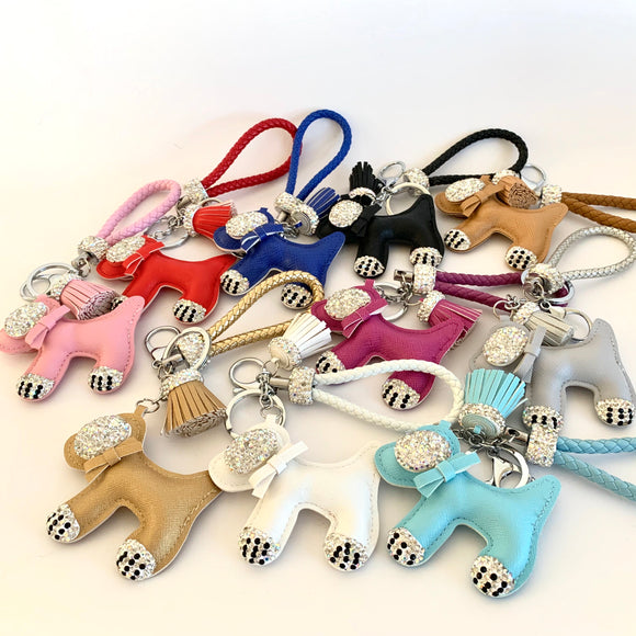 7-Degrees Accessories Crystal Dog Bag Charm and Keyring