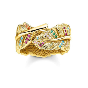 Thomas Sabo Jewellery Ring Feather Gold TR2284Y