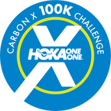 HOKA ONE ONE® Project Carbon X 100K Challenge digital finisher's badge.