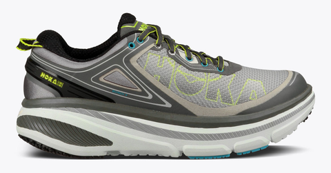 Hoka One One Men's Bondi 4 Wide - Grey/Citrus/Cyan