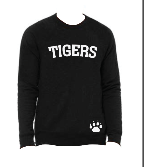 TIGERS Sweatshirt with Paw Print