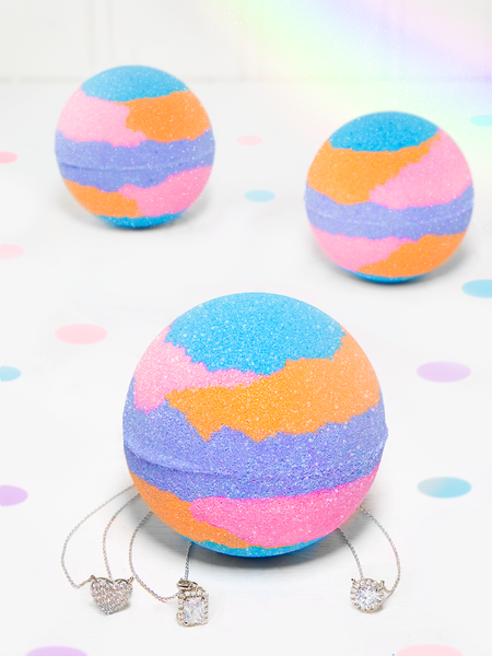Rainbow Shimmer Bath Bomb - Necklace Collection