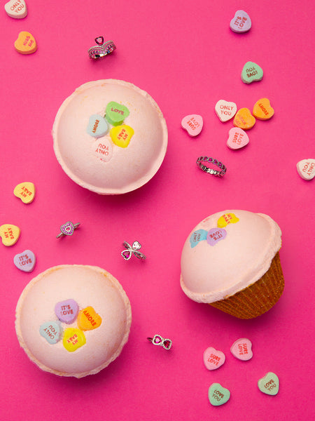 Cupcake Bath Bomb - Heart Shaped Ring Collection