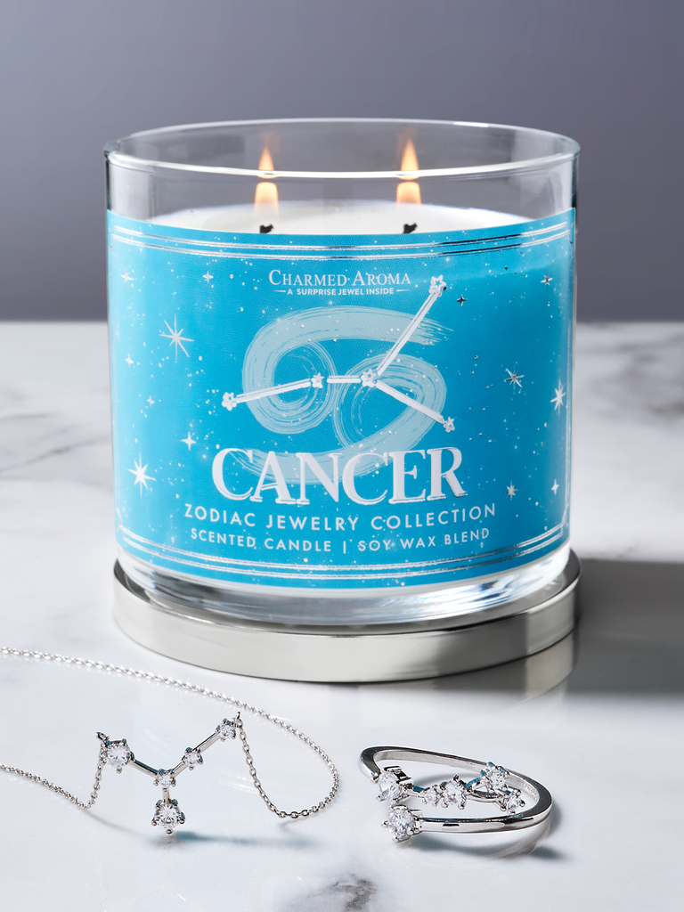 Cancer Zodiac Candle - Cancer Jewelry Collection