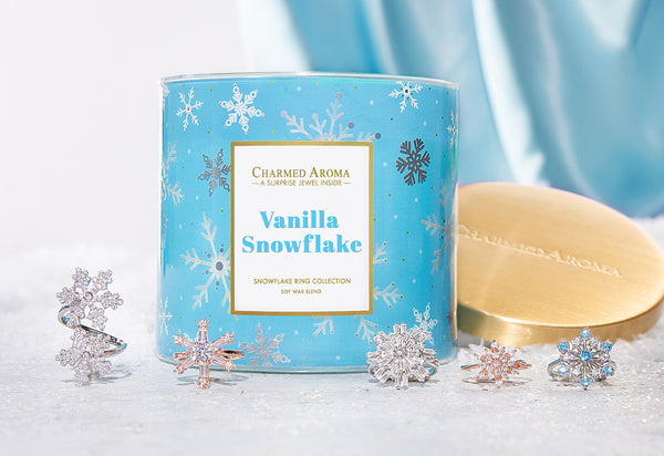 Vanilla Snowflake Candle - Snowflake Ring Collection