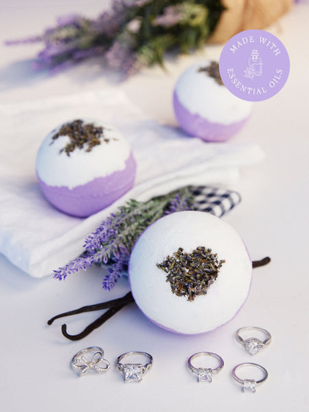 Lavender Vanilla Bath Bomb (with Essential Oils) - Classic Ring Collection
