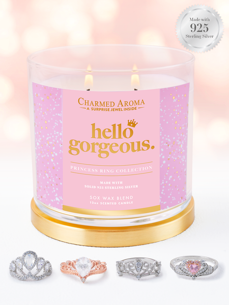 Hello Gorgeous Candle - 925 Sterling Silver Crown Ring Collection