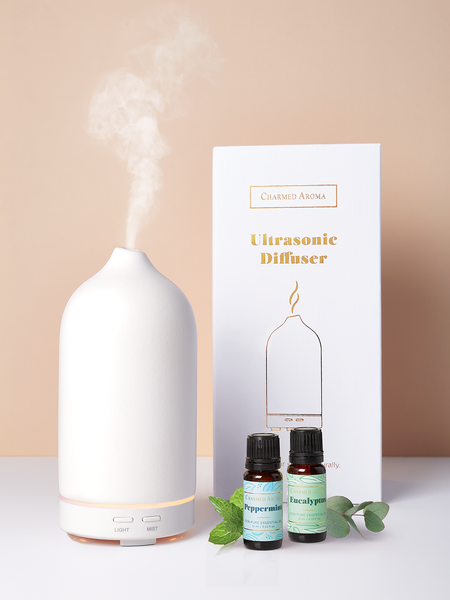 Ultrasonic Stone Diffuser + Essential Oils Kit