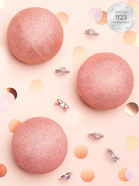 Rose Gold Bath Bomb - Rose Gold Ring Collection