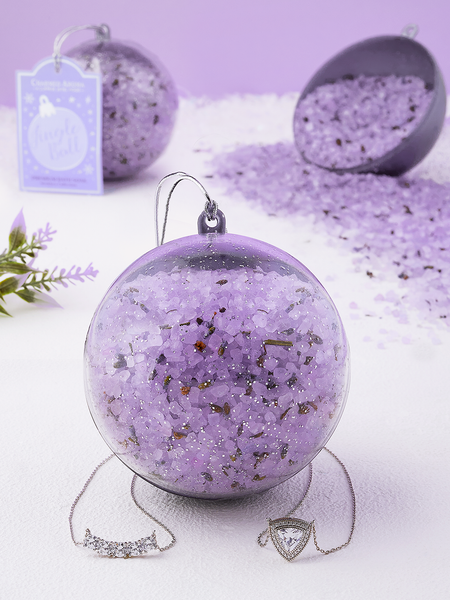 Lavender Jingle Ball Bath Soak - Necklace Collection