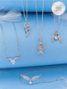 Snow Angels Candle - 925 Sterling Silver Angel Wing Necklace Collection