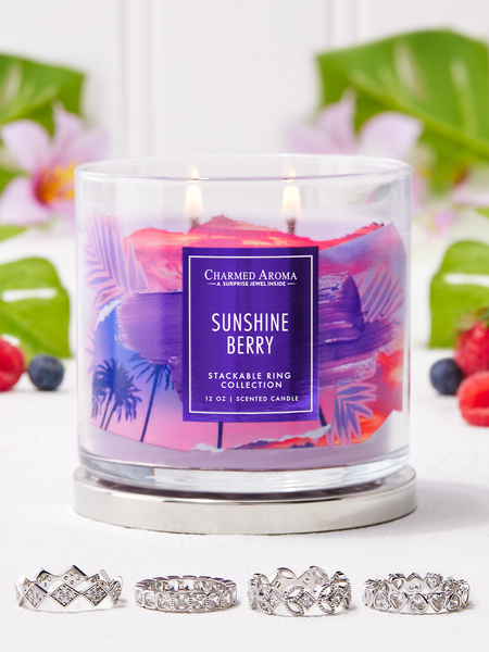 Sunshine Berry Candle - Stackable Ring Collection