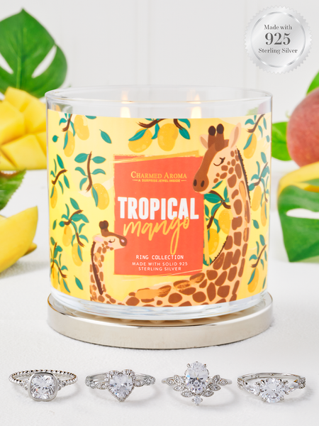 Tropical Mango Candle - 925 Sterling Silver Ring Collection