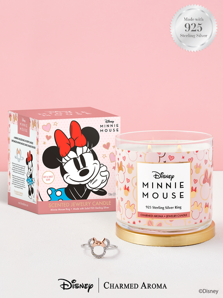 Disney® Minnie Mouse Candle - 925 Sterling Silver Minnie Mouse Stackable Ring Collection