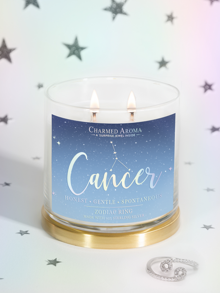 Cancer Candle - Zodiac Ring Collection