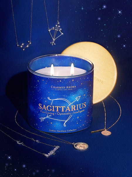 Sagittarius Candle - Zodiac Necklace Collection