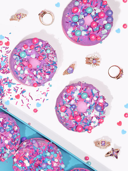Donut Bath Bomb - Purple Opal Ring Collection