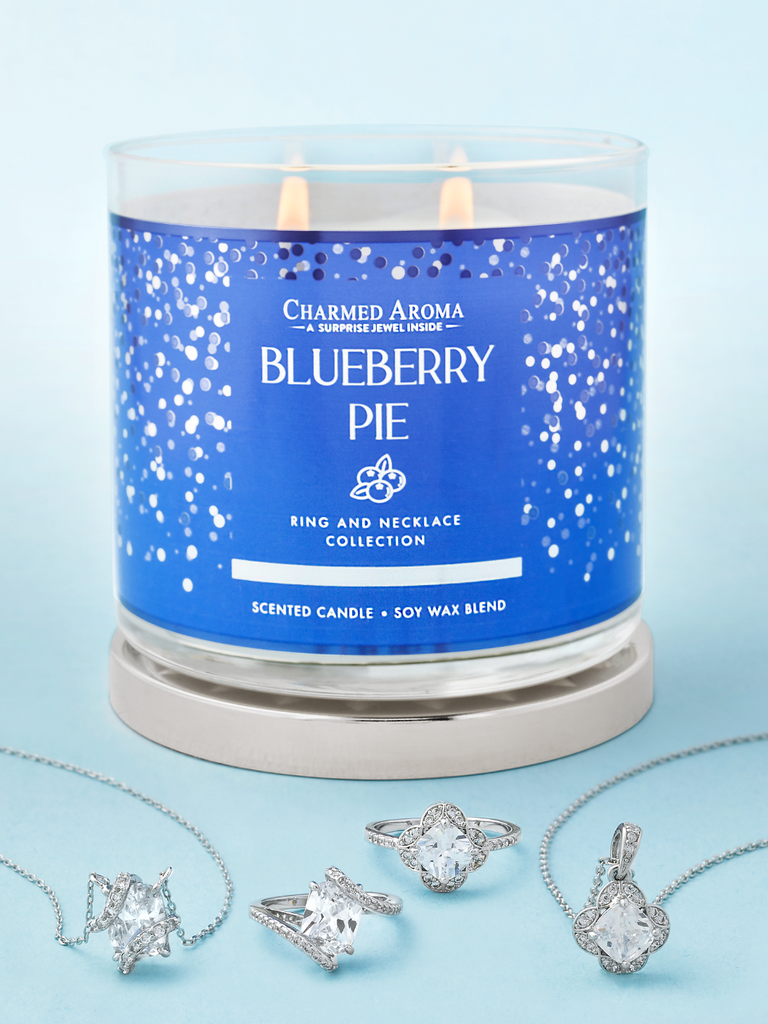 Blueberry Pie Candle - Matching Ring & Necklace Collection