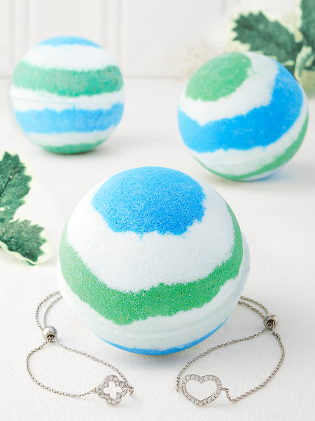Peppermint Bath Bomb - Bracelet Collection