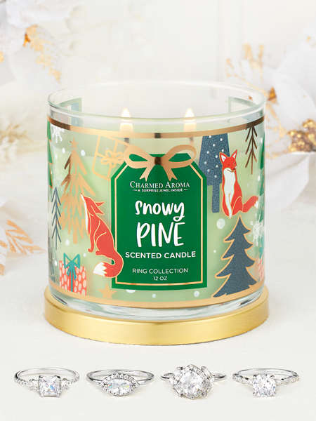 Snowy Pine Candle - Ring Collection