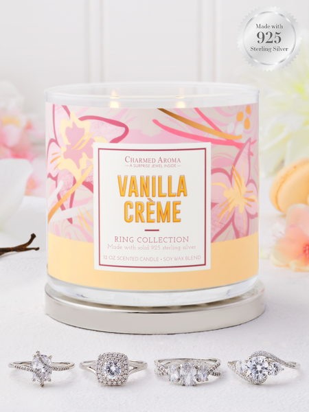 Vanilla Crème Candle - 925 Sterling Silver Ring Collection