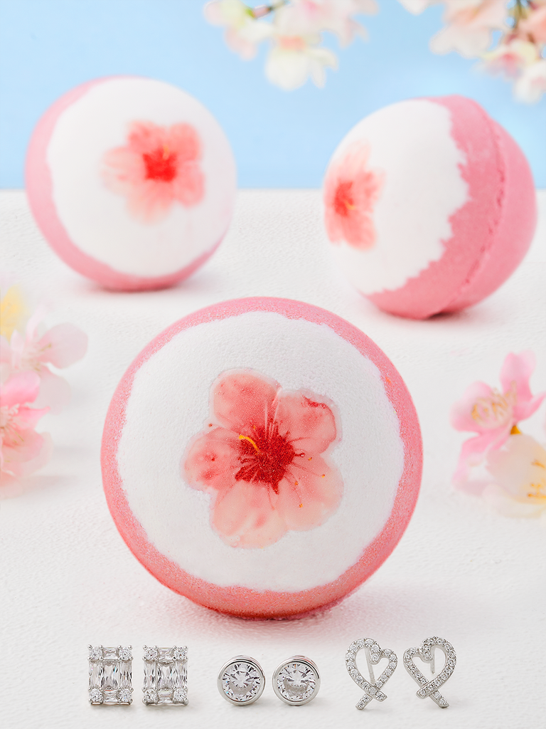 Cherry Blossom Bath Bomb - Earring Collection