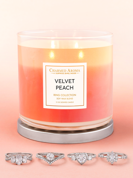Velvet Peach Candle - Ring Collection