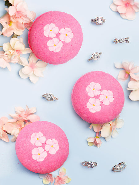 Cherry Blossom Bath Bomb - Classic Ring Collection