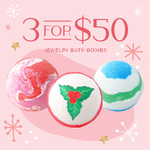Holiday Jewelry Bath Bomb Set