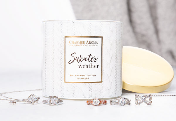 Sweater Weather - Ring & Necklace Candle