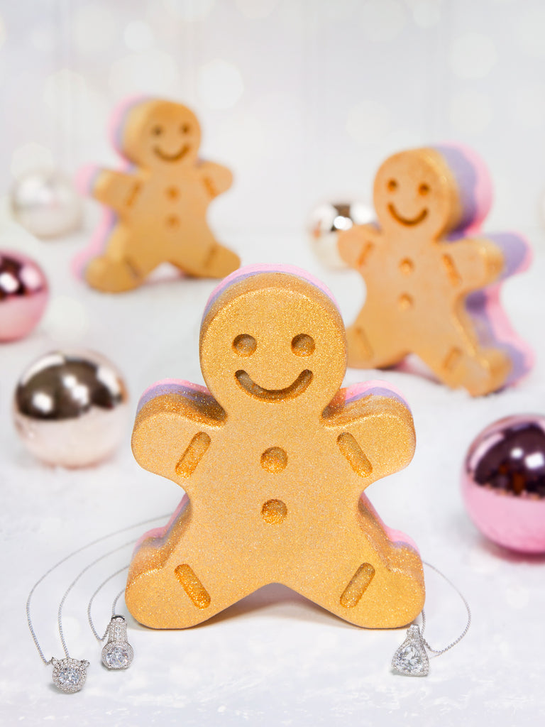 JUMBO Gingerbread Bath Bomb - Classic Necklace Collection