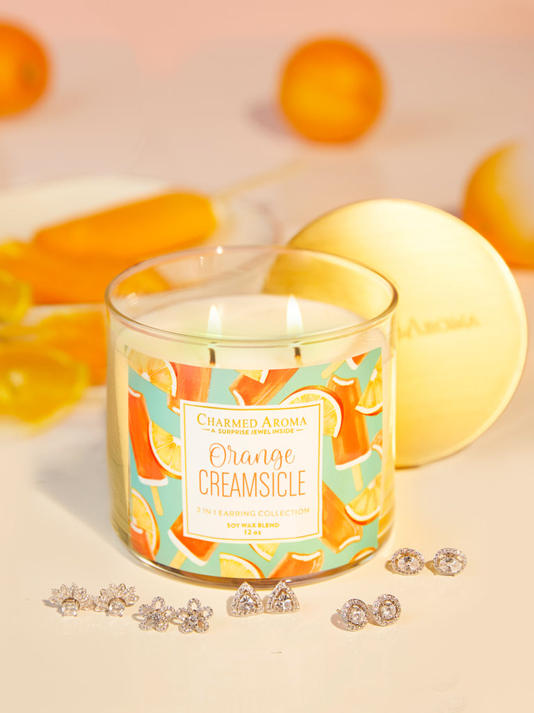 Orange Creamsicle Candle - 2-in-1 Earring Collection