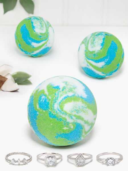 Coconut Melon Bath Bomb - Ring Collection