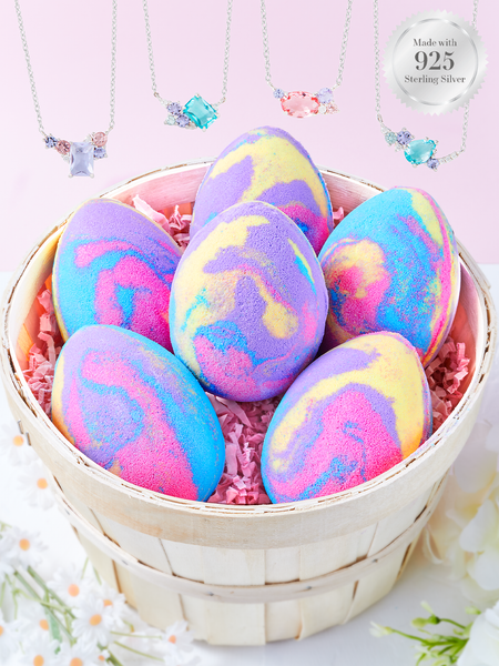 Rainbow Egg Bath Bomb - Pastel Necklace Collection