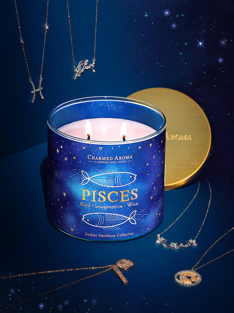 Pisces Candle - Zodiac Necklace Collection