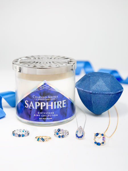 Sapphire Birthstone Set - Sapphire Ring & Necklace Collection