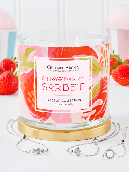 Strawberry Sorbet Candle - Bracelet Collection
