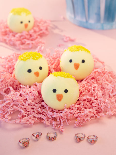 Easter Chick Bath Bomb -  Coral Ring Collection