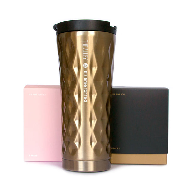 Gold Travel Mug Set